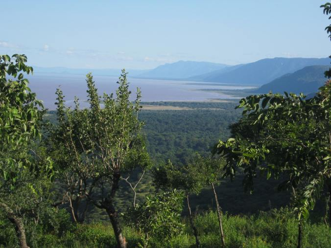 Lake Manyara from the hotel room