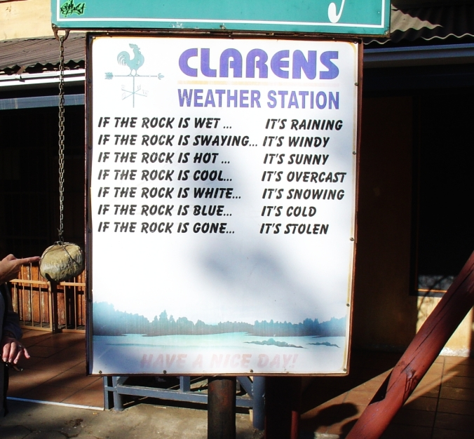 Clarens weather station