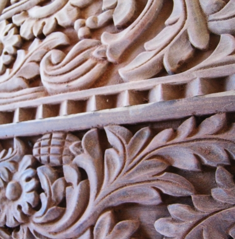 New carved door