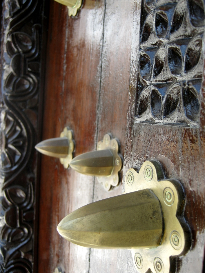 Copper knobs to ward off elephants