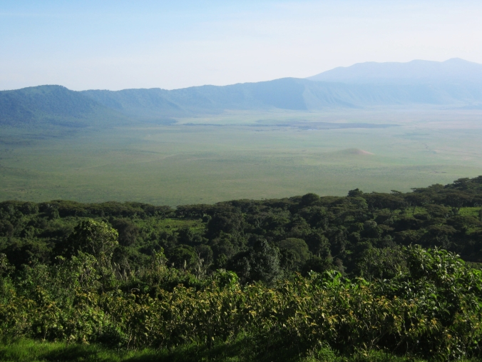 View from the lodge on the rim of the crater
