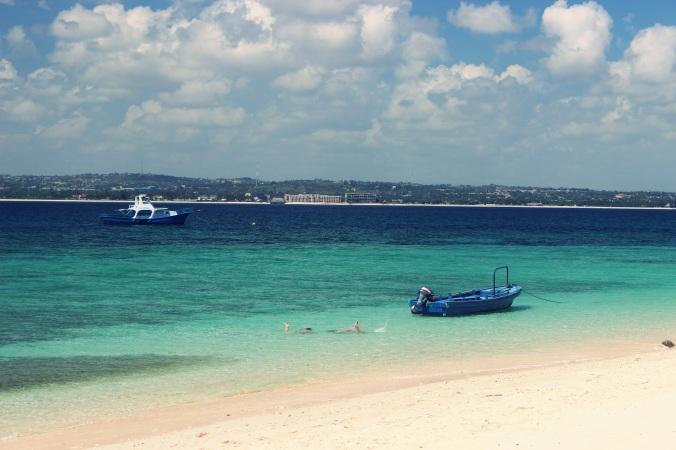 Beautiful clear water around the island