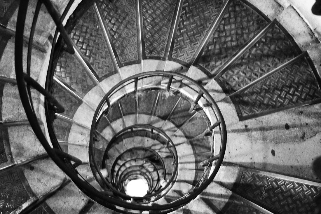 Steps B&W